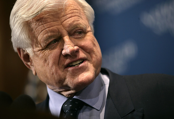 Ted Kennedy in una Foto recente